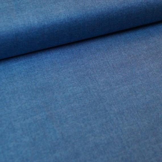 Makower - Linen Texture- denimblue