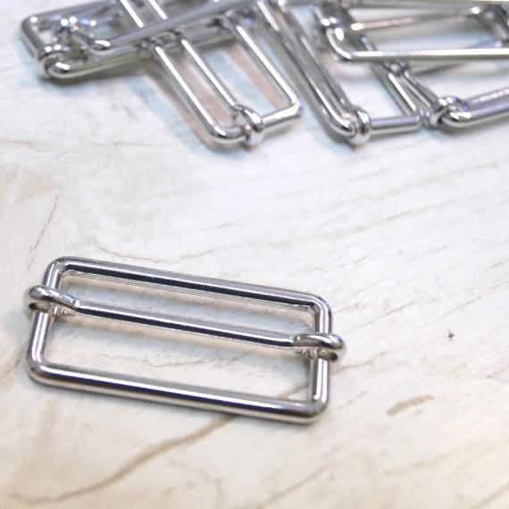 Metallschieber silber glänzend 40mm