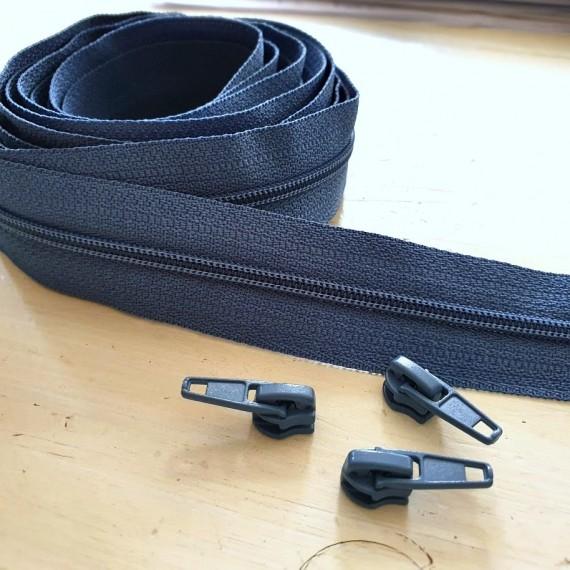 4mm Reissverschluss jeansblau
