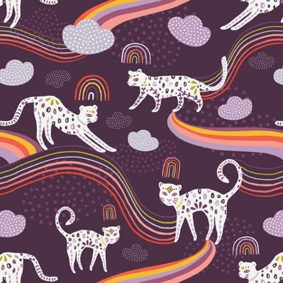 Quarter 50cmx56cm - Art Gallery - Kushukuru - Rainbow Jaguar