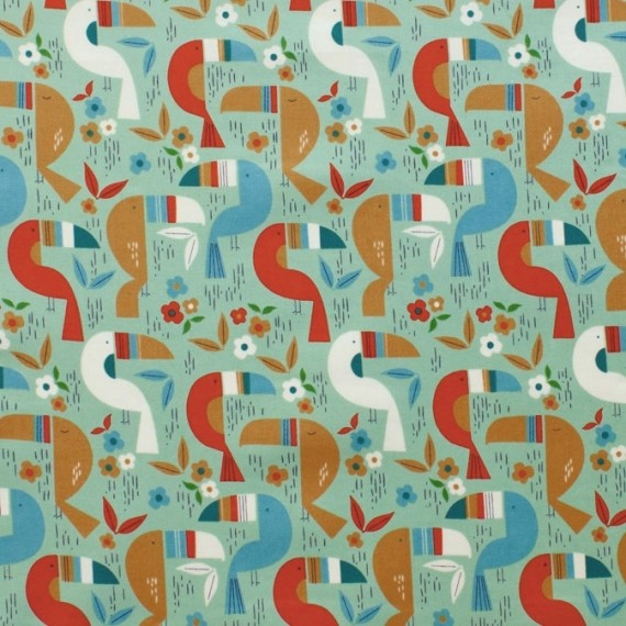 "Quarter 50cmx56cm - Alexander Henry ""Toucan Zoo"""