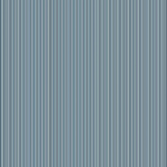 Makower - Pinstripe - navy-weiss