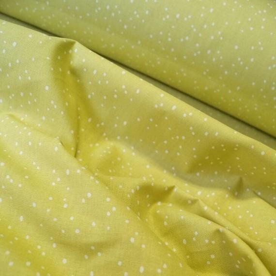 Baumwollstoff Spinkles yellow