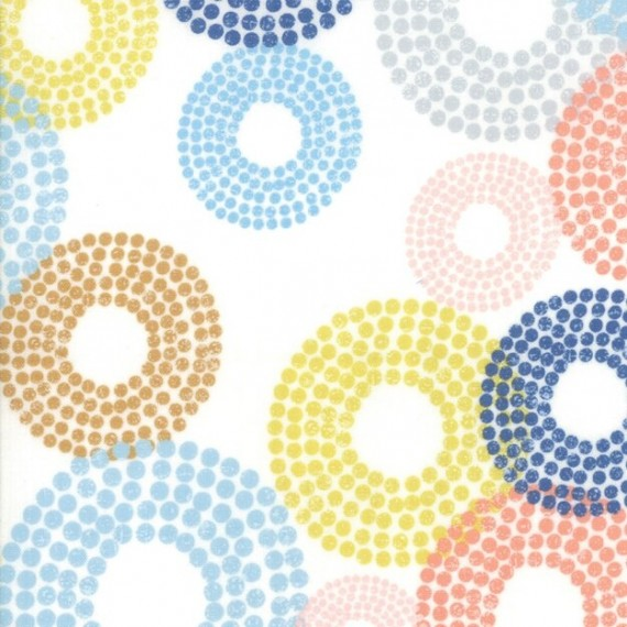 "Moda ""Breeze"" von Zen Chic - Dottie Circles white"