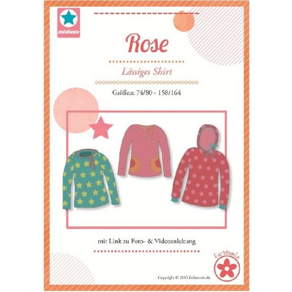 Rose Farbenmix Lässiges Shirt Schnittmuster