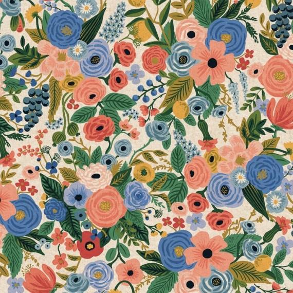 Cotton+Steel Canvas - Wildwood - Garden Party blue