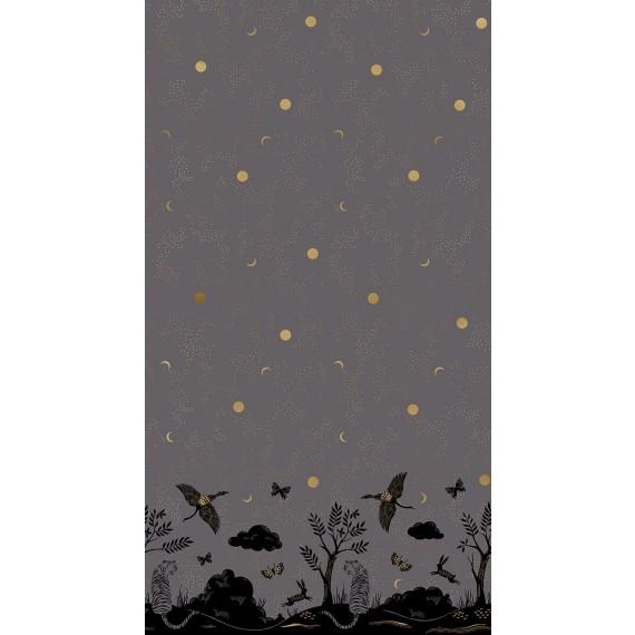 Tigerfly Chrysalis Panel - Ruby Star Society - slate gray metallic