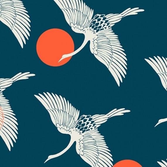 Quarter 45cmx56cm - Florida - Ruby Star Society - Egrets - peacock