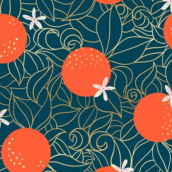 Florida - Ruby Star Society - Orange Blossoms - peacock metallic