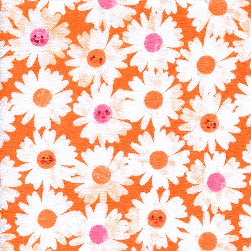 Cotton and Steel - Trinket - Happy Garden tangerine