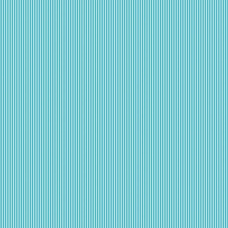 Riley Blake feine Streifen türkisblau-weiss