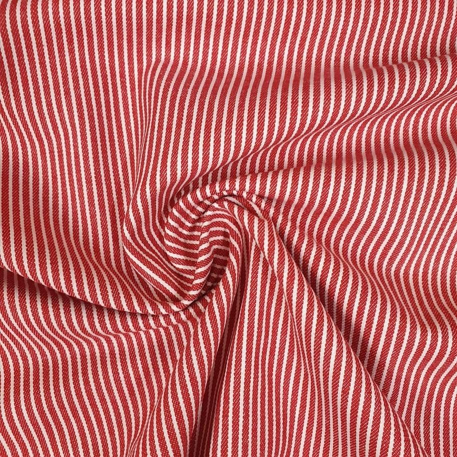 Streifenjeans - rot-weiß