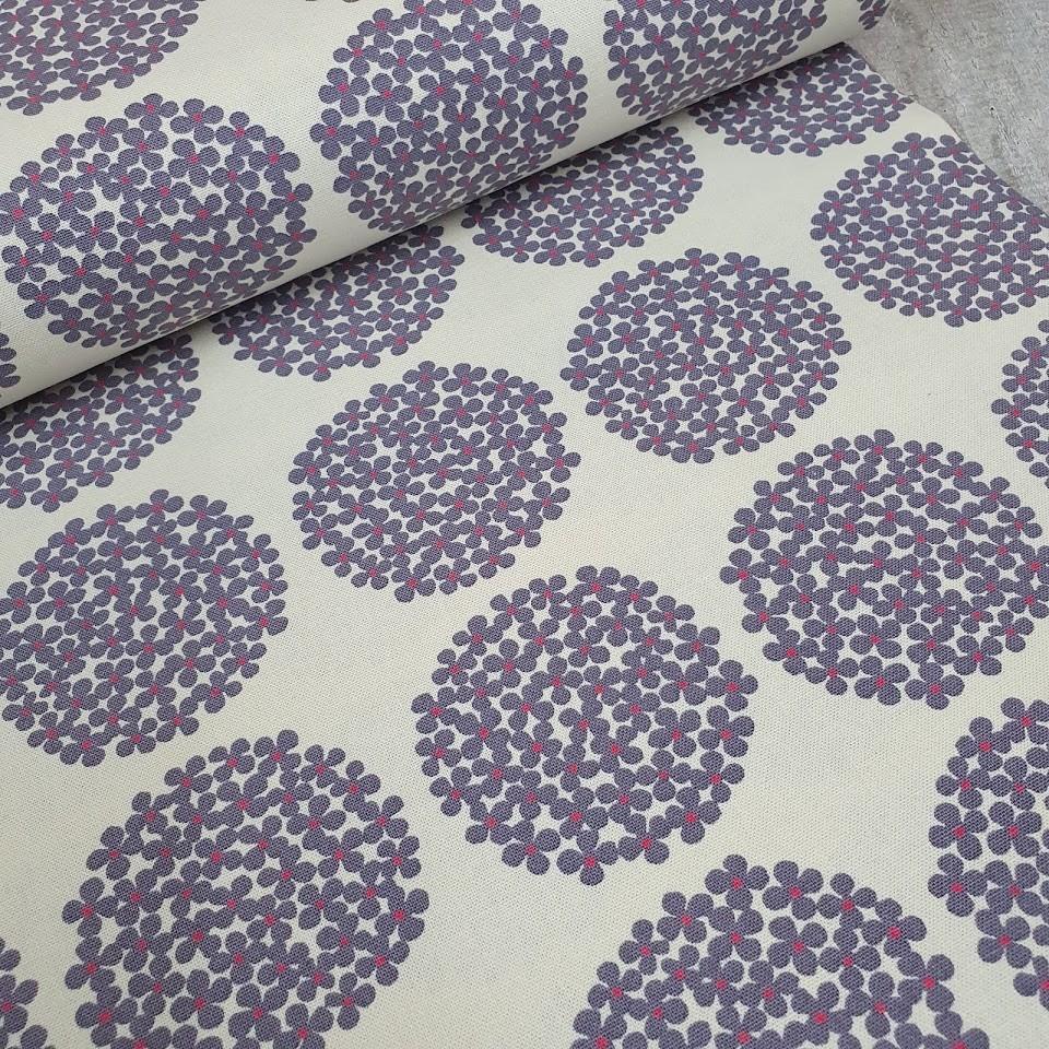 Kobayashi Canvas Flower Dots - weiß-flieder