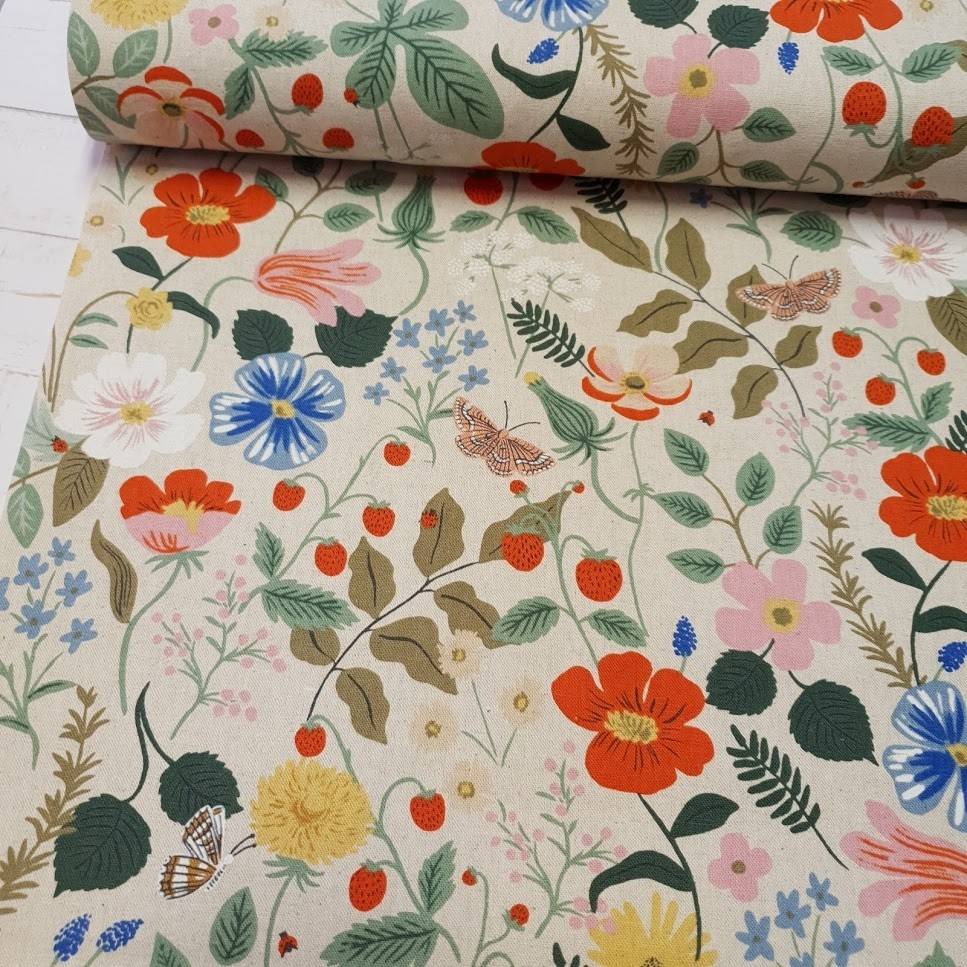 Cotton+Steel Canvas - Strawberry Fields - linen