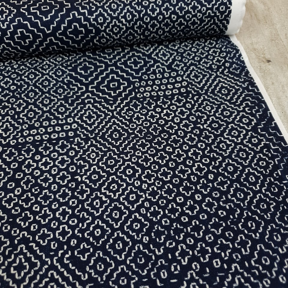 "Windham Fabrics ""Stitch Sampler"" - indigo"