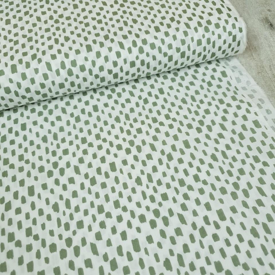 Baumwollstoff Flecken lindgrün