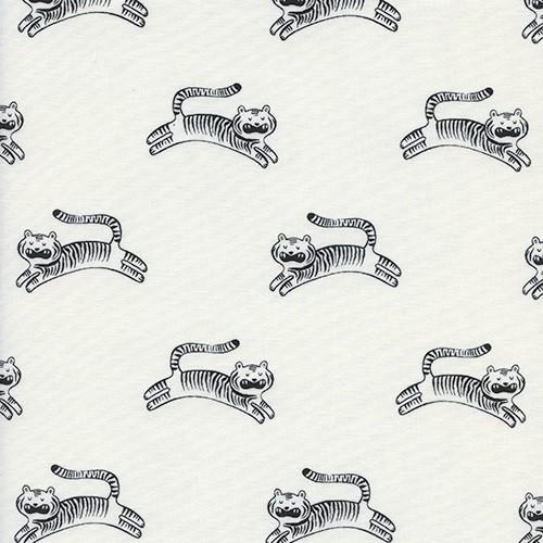 Cotton and Steel - Big Roar white - Sleep Tight - Sarah Watts