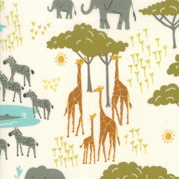 "Quarter 53cmx56cm - Moda ""Safari Life"" - In the native - cream"