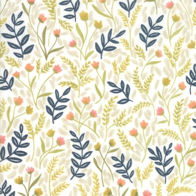 Golden Rod - Meadow Floral - white - Moda Fabrics von One Canoe Two