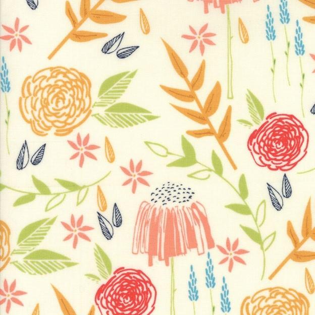"""Meadow"" ivory - Creekside - Moda Fabrics"