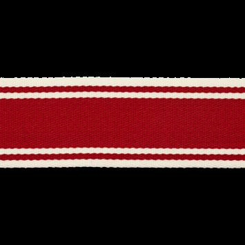 Maritimes Gurtband 40mm breit - rot-weiß