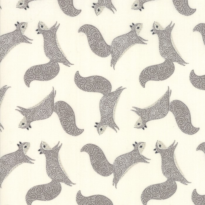 "Moda ""Bramble"" - Squirrels - cream and grey"