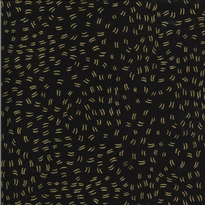 Flutters night metallic - Dwell in Possibility von Gingiber - Moda Fabrics