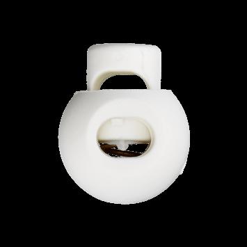Kordelstopper weiß - 8mm