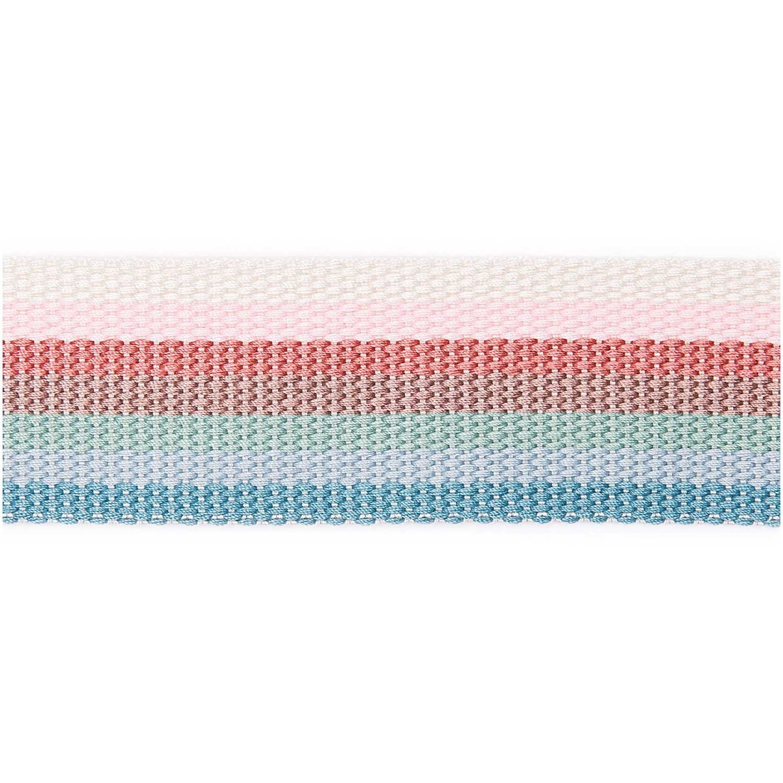 Gurtband Pastell-Rainbow - 2m - 40mm breit