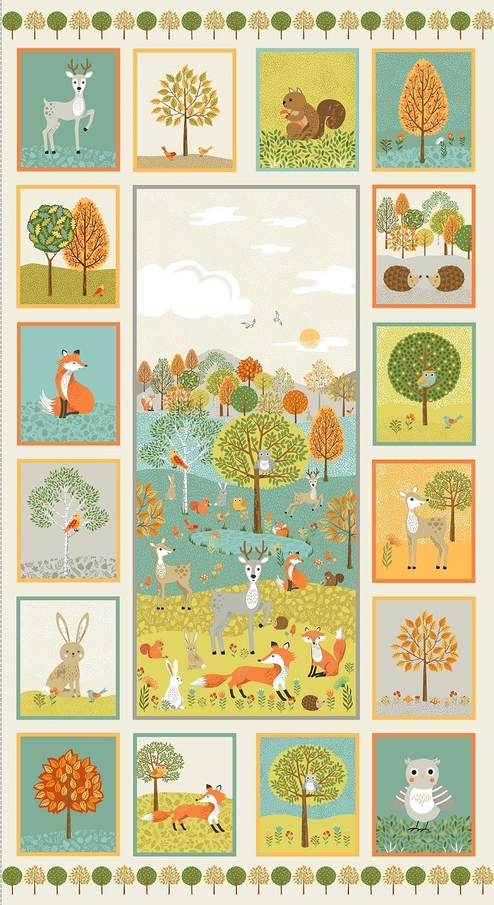 Makower - Forest - Forest Animals Panel