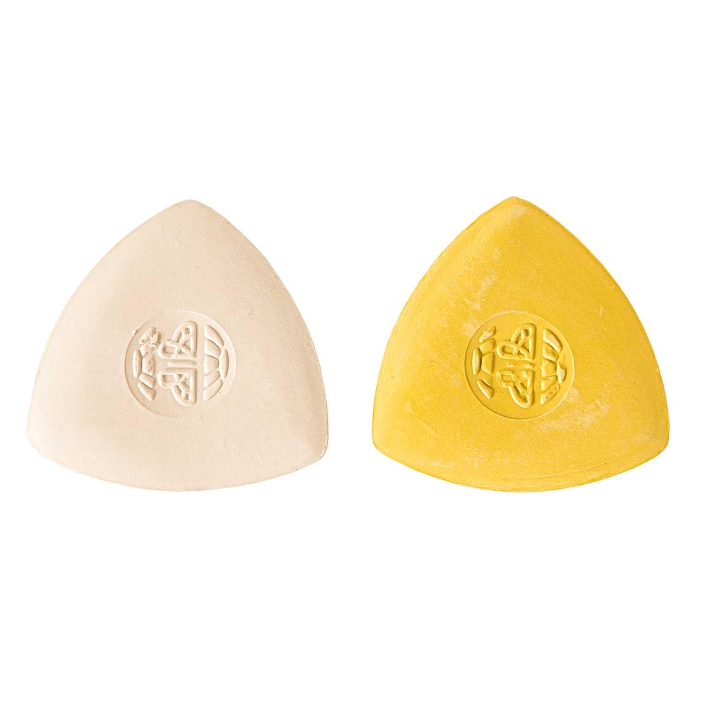 Schneiderkreide, weiss und gelb