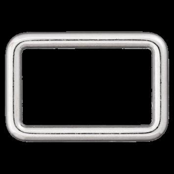 Rechteck-Ring, silber, 40mm