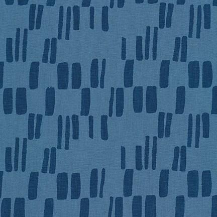 Block Print, cadet - Quarry Trail by Anna Graham