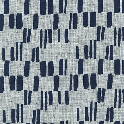 Block Print, indigo - Quarry Trail by Anna Graham