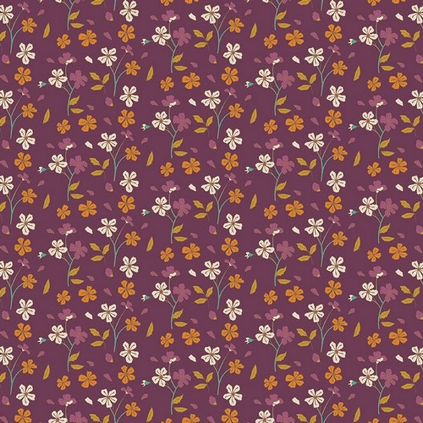 Art Gallery - Cozy Ditzy Plum - Autumn Vibes