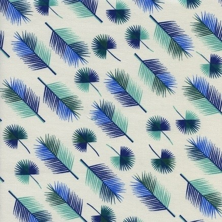 Cotton and Steel - Lagoon - Unbeleafable - blue