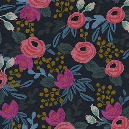Cotton+Steel Canvas - Menagerie - Rose navy