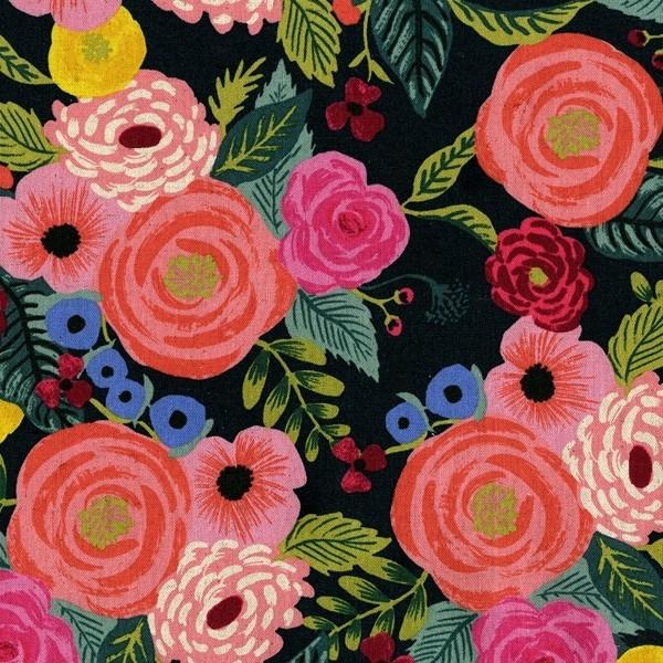 Cotton+Steel Canvas - Juliet Rose - navy