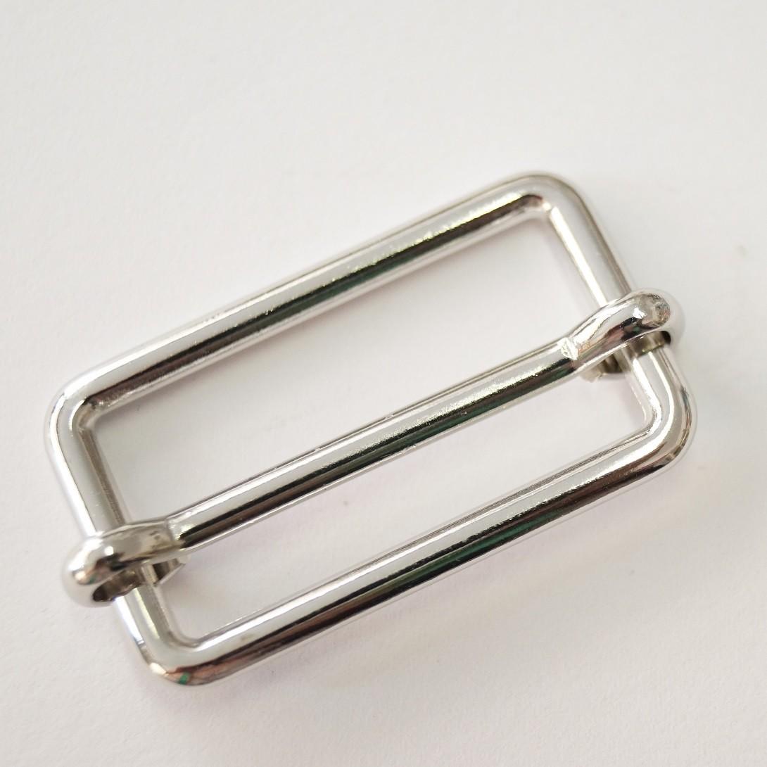 Metallschieber silber glänzend 20mm