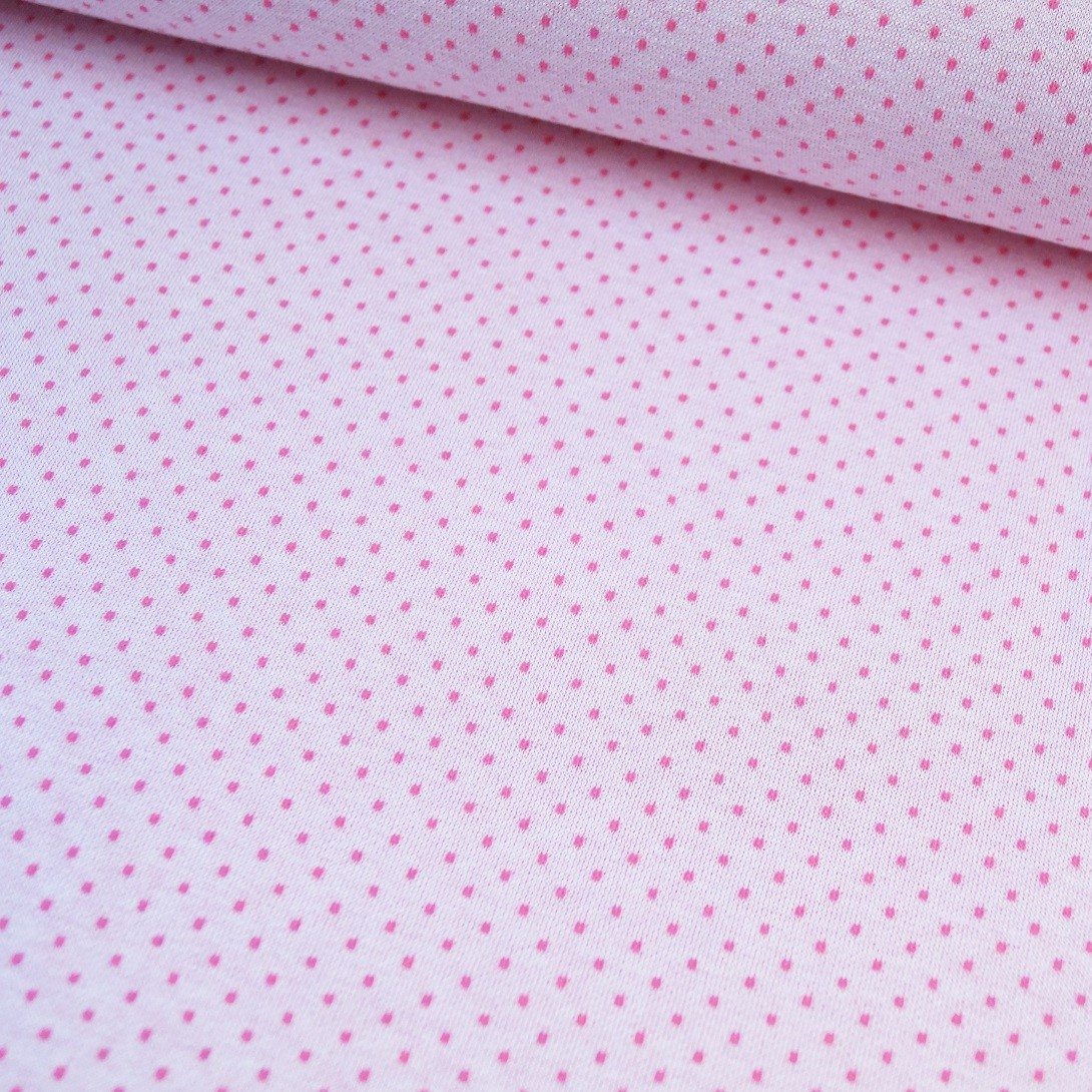 "Reststück 70cmx130cm - Hilco Viskose-Strickjacquard ""Ebba Dots"""