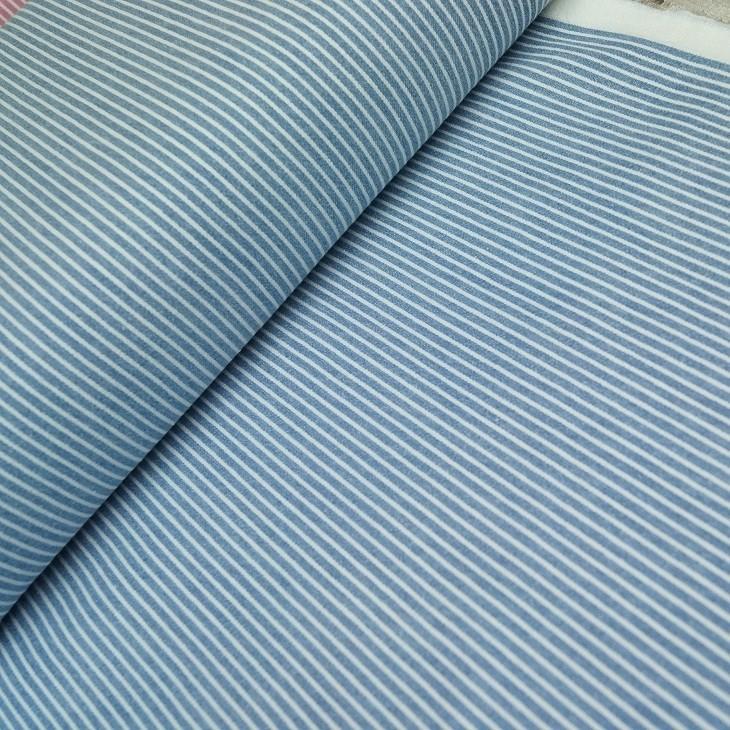 Streifenjeans - helles indigo-weiß
