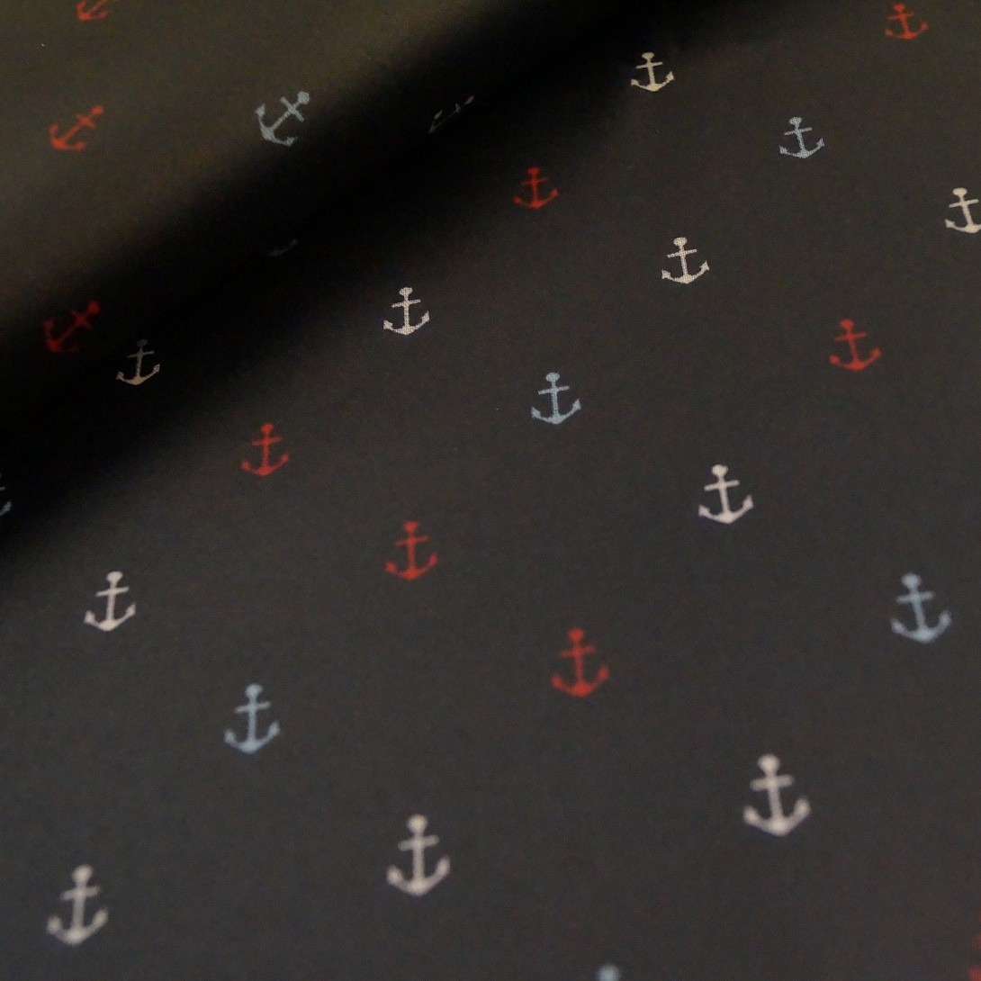 Quarter 52cmx67cm - Anker Wachstuch dunkelblau/navy