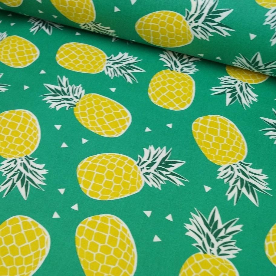 Pineapple - beschichtete Baumwolle - grün