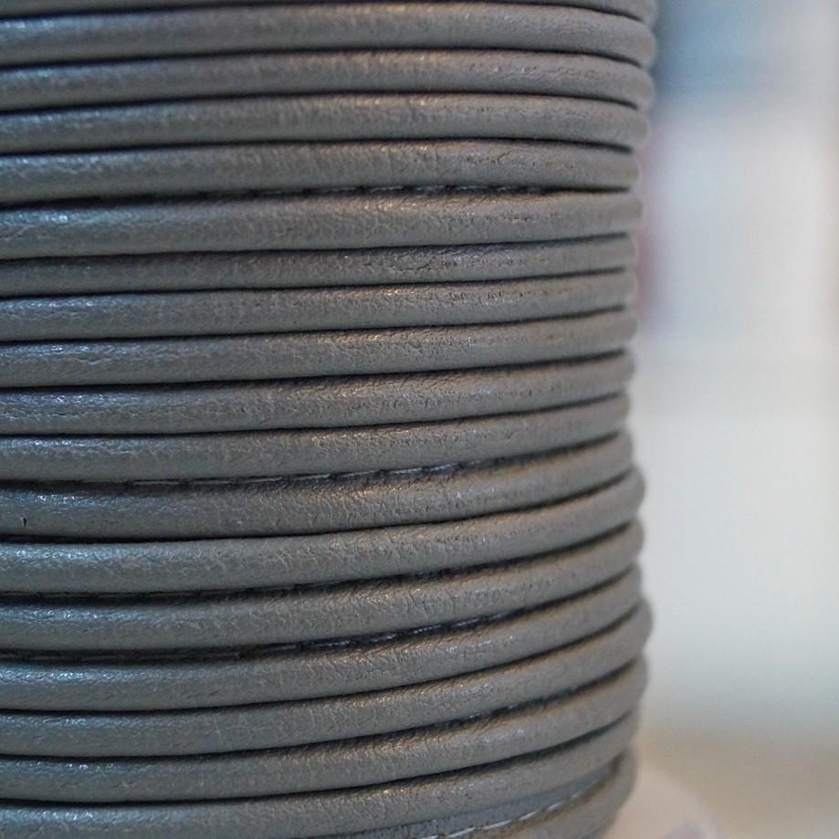 Paspelband 9mm Lederimitat - grau