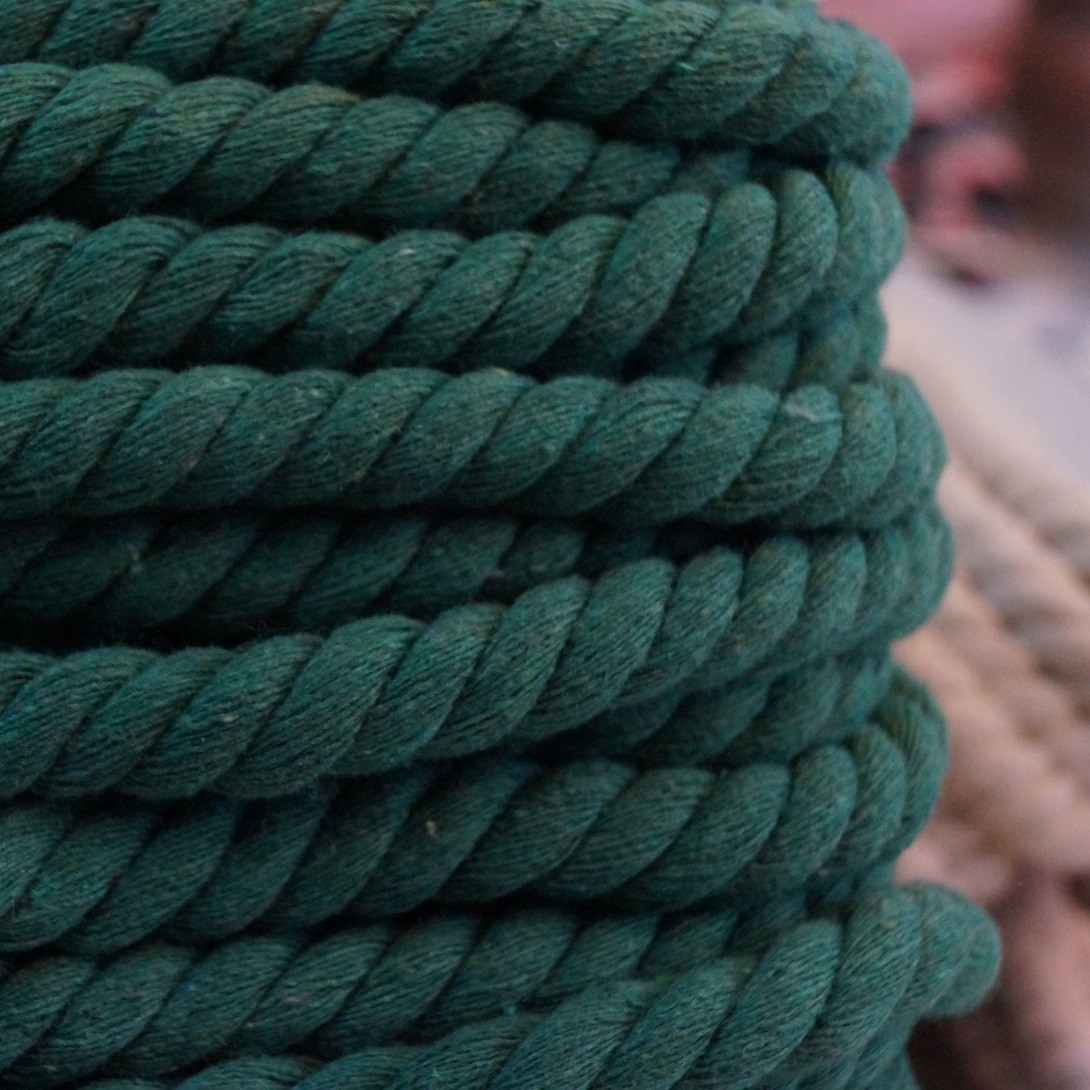 Gedrehte Mega-Baumwoll-Kordel - 1,4cm - grün