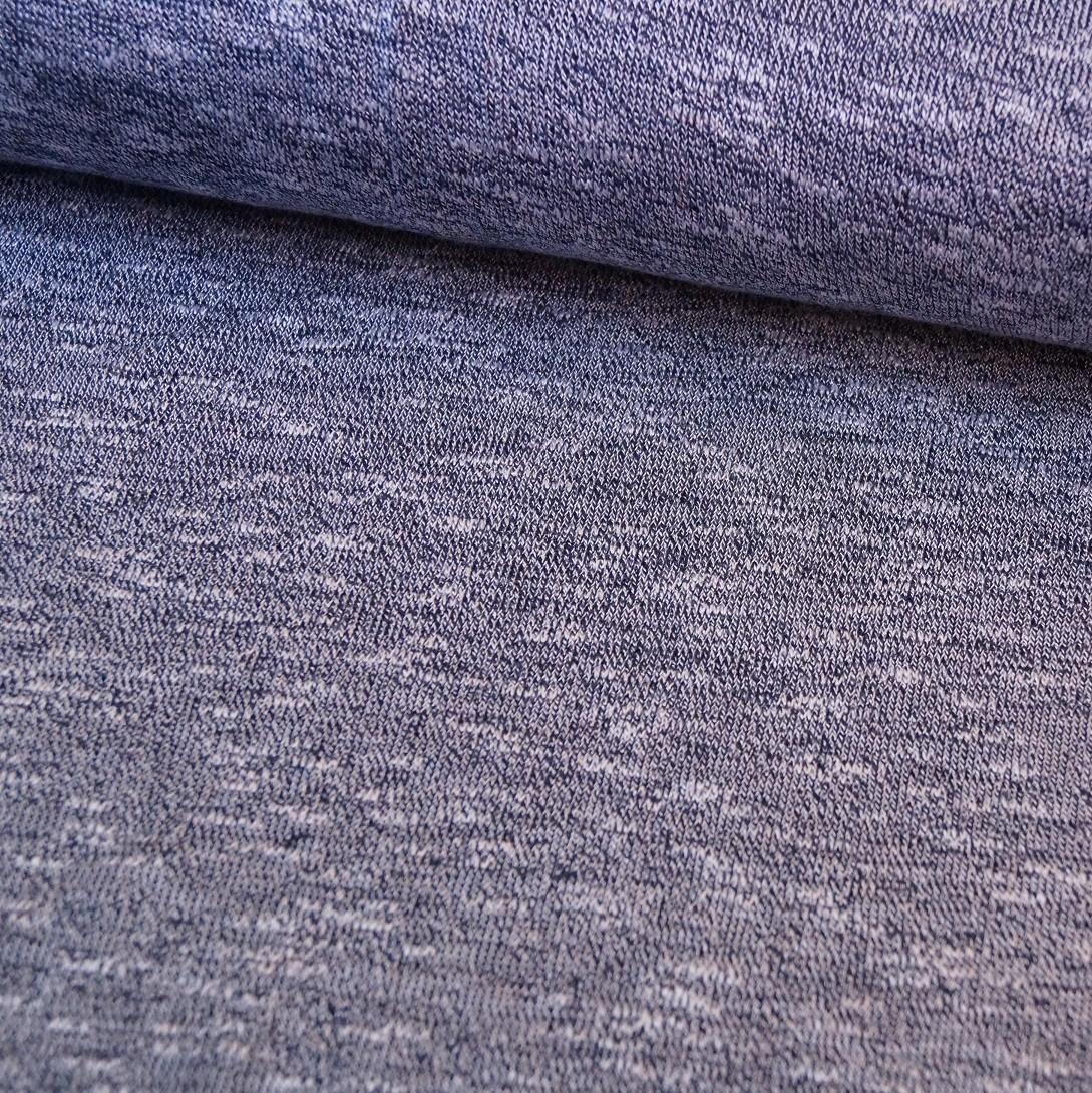 "Reststück 1,40mx1,60m - Hilco Strick ""Sol y mar"" blau Melange"