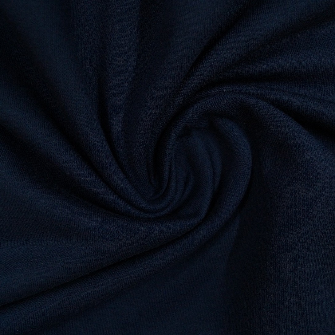 Angerauter Sweat 100% BW  - dunkelblau