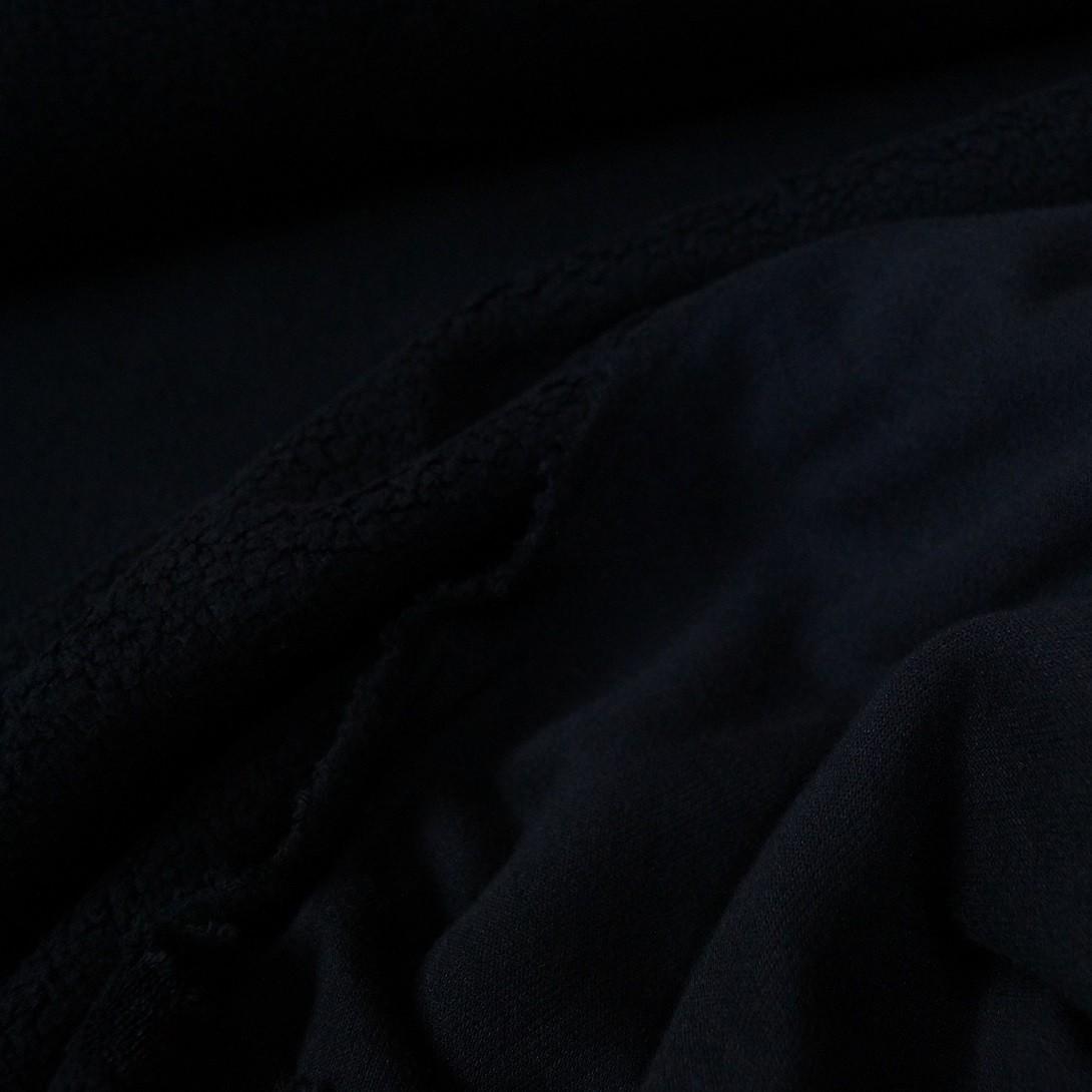 Doubleface Baumwollfleece Sheepskin schwarz