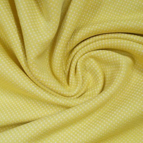 Jacquard-Jersey mit Minipünktchen - gelb - Stenzo