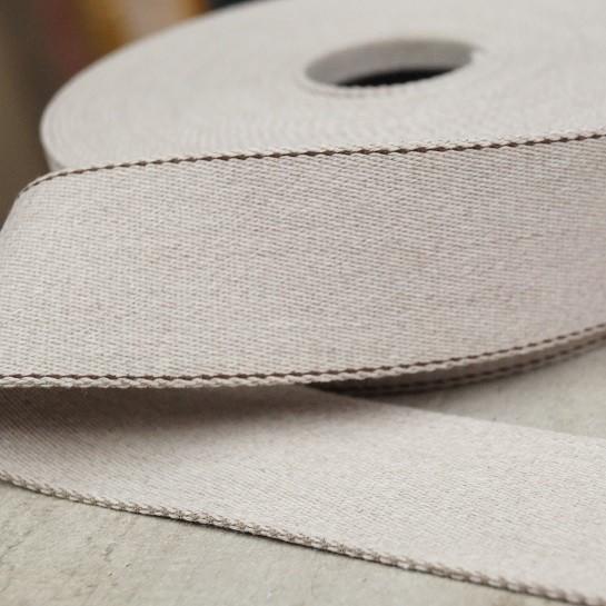 Pinstripe Gurtband 40mm breit - ecru